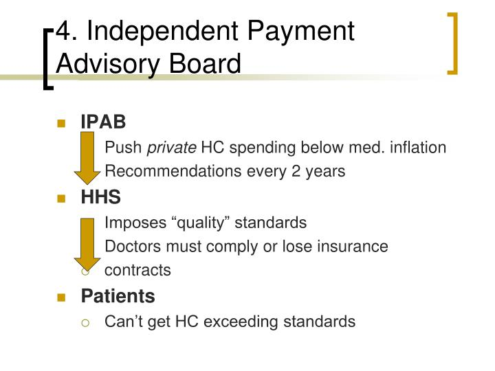 4. Independent Payment Advisory Board
