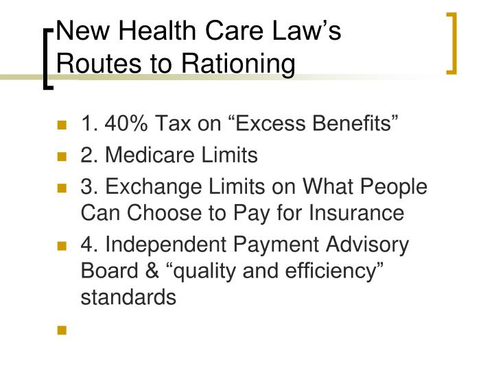 New Health Care Law's
