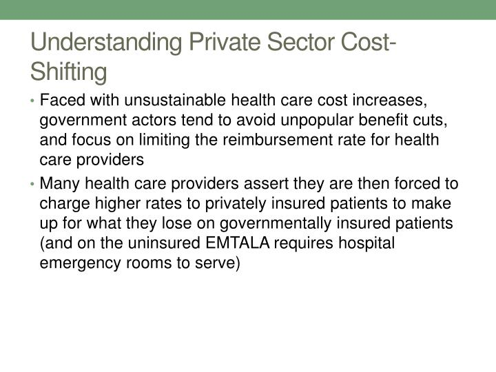 Understanding Private Sector Cost-Shifting