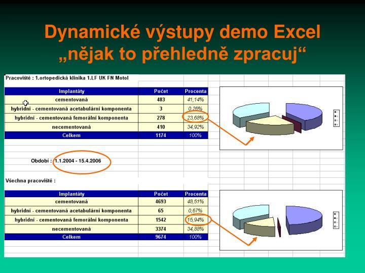 Dynamické výstupy demo Excel