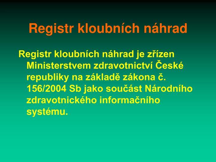 Registr kloubních náhrad
