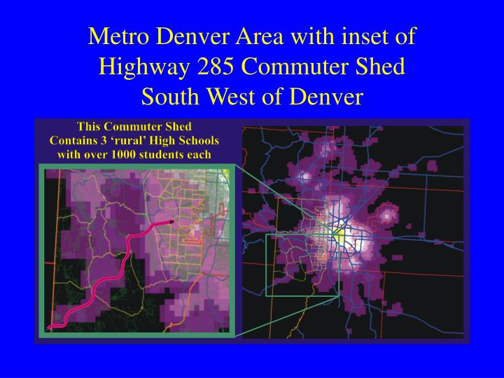 Metro Denver Area with inset of