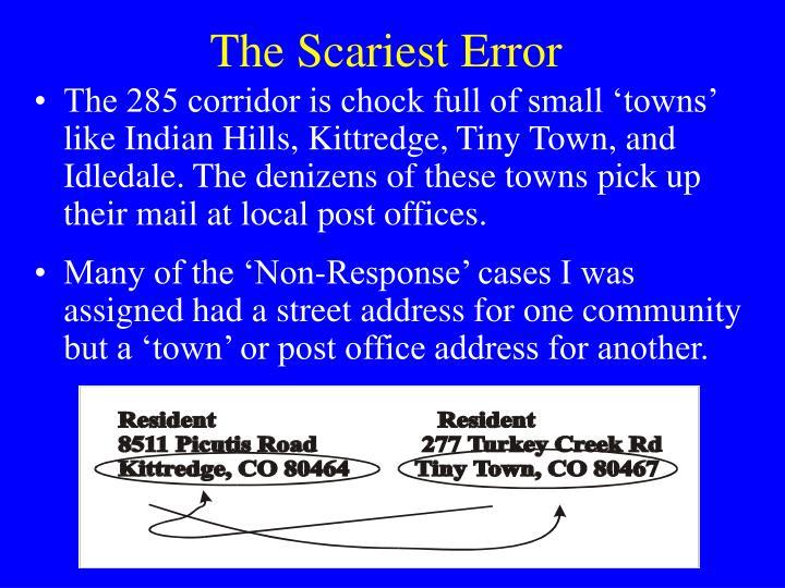 The Scariest Error
