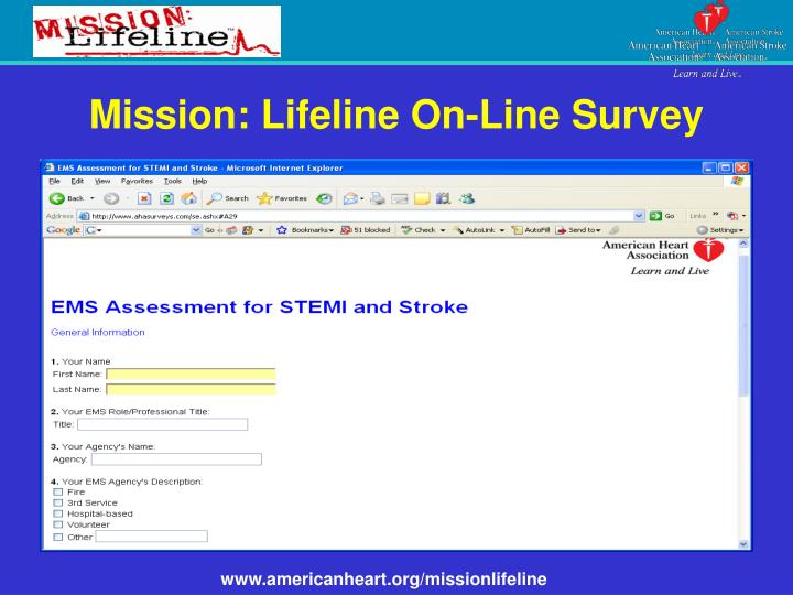 Mission: Lifeline On-Line Survey