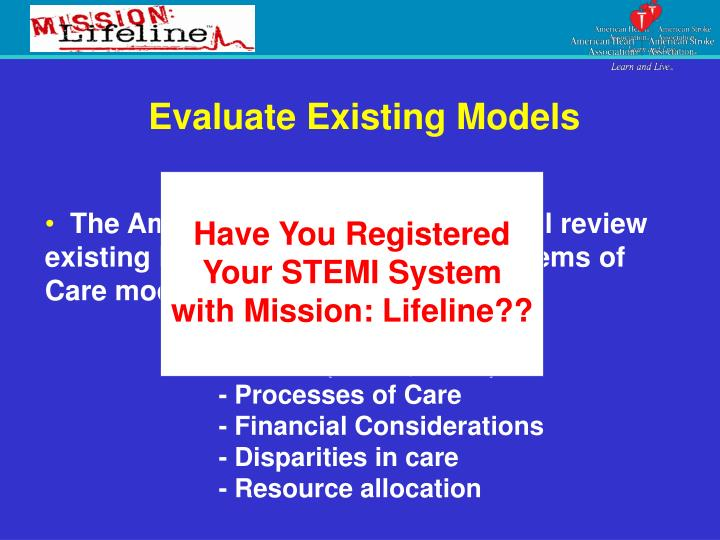 Evaluate Existing Models