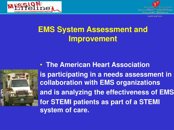 EMS System Assessment and Improvement