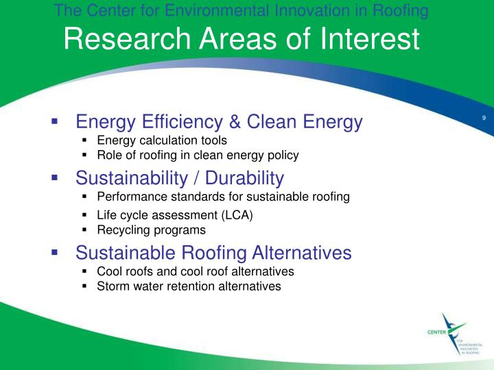 The Center for Environmental Innovation in Roofing