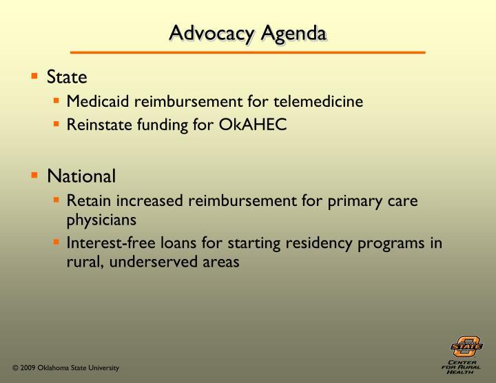 Advocacy Agenda