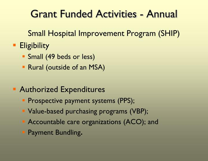 Grant Funded Activities - Annual