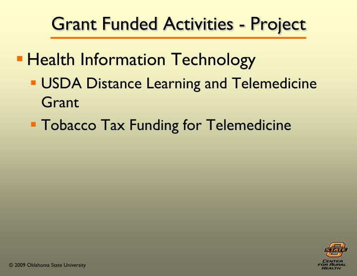 Grant Funded Activities - Project