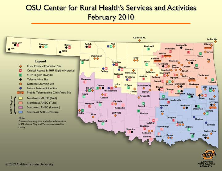 OSU Center for Rural Health's Services and Activities