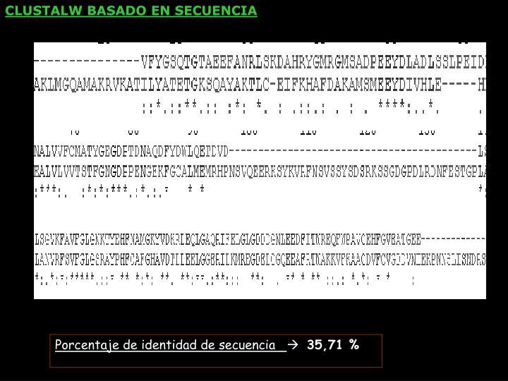 CLUSTALW BASADO EN SECUENCIA