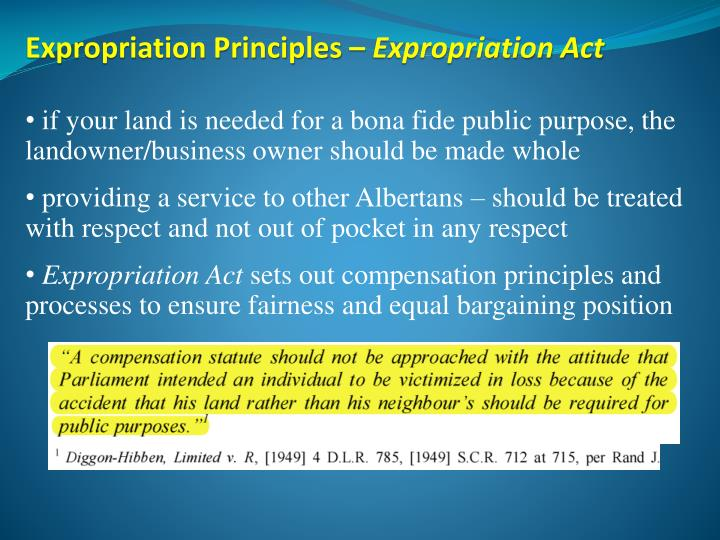 Expropriation Principles –