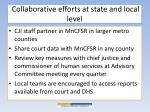 collaborative efforts at state and local level