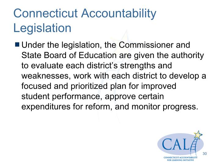Connecticut Accountability Legislation