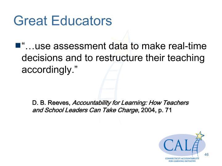 Great Educators