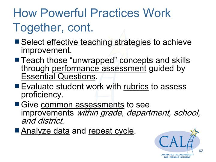 How Powerful Practices Work Together, cont.