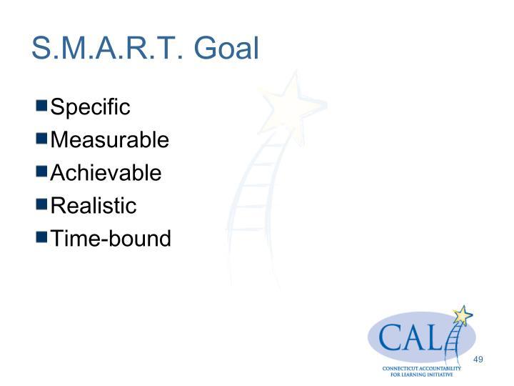 S.M.A.R.T. Goal