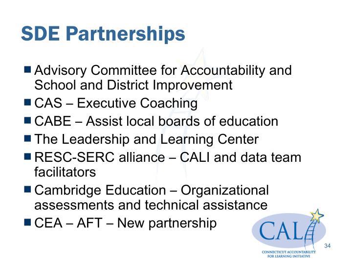 SDE Partnerships