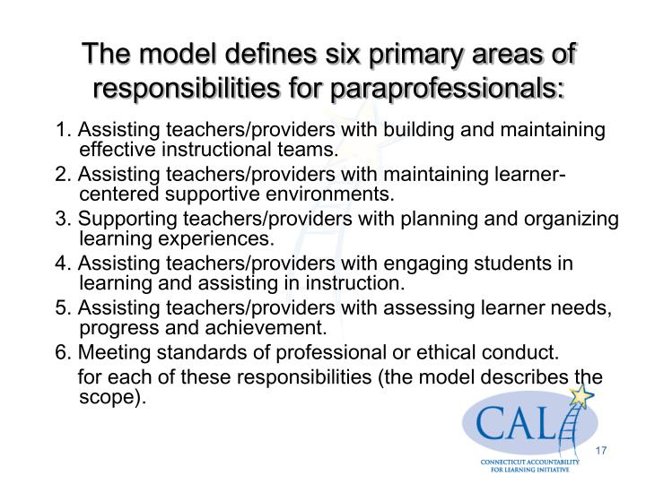 1. Assisting teachers/providers with building and maintaining effective instructional teams.