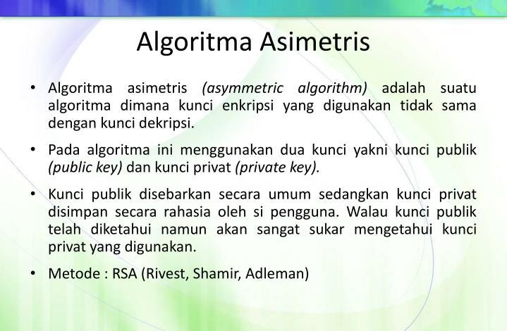 Algoritma Asimetris