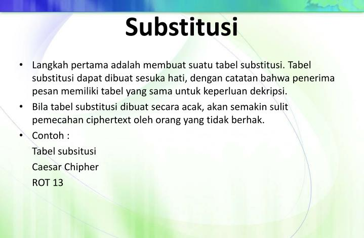 Substitusi