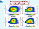 downscaling with nrcm normalized track density