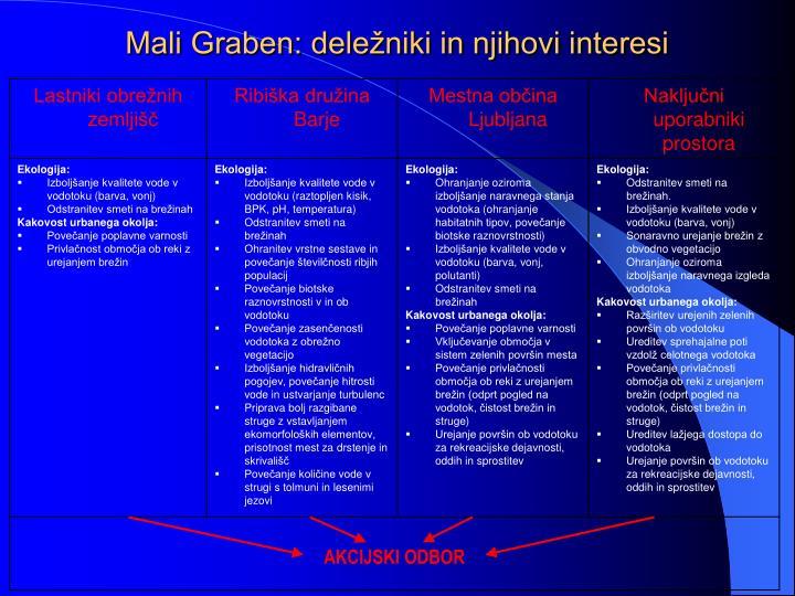Mali Graben: deležniki in njihovi interesi