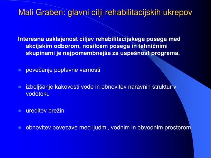 Mali Graben: glavni cilji rehabilitacijskih ukrepov
