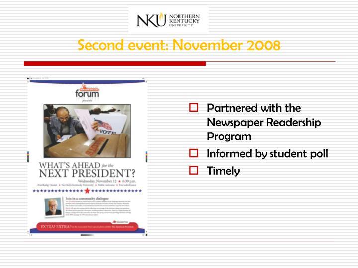 Second event: November 2008