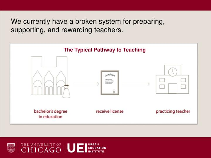 We currently have a broken system for preparing, supporting, and rewarding teachers.