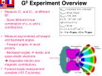 g 0 experiment overview