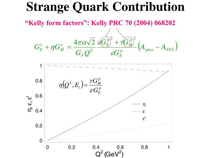 Strange Quark Contribution