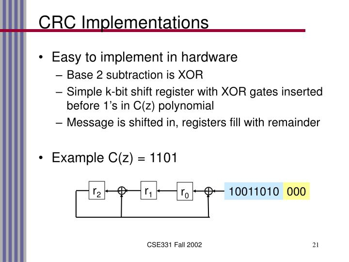 CRC Implementations