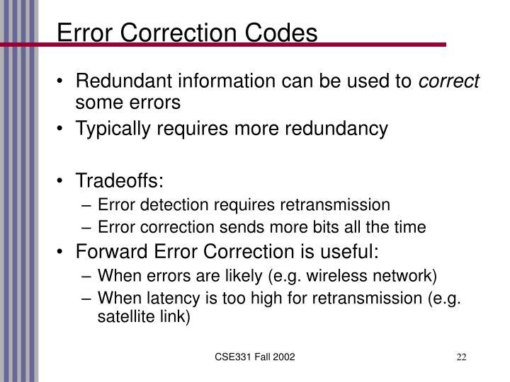 Error Correction Codes