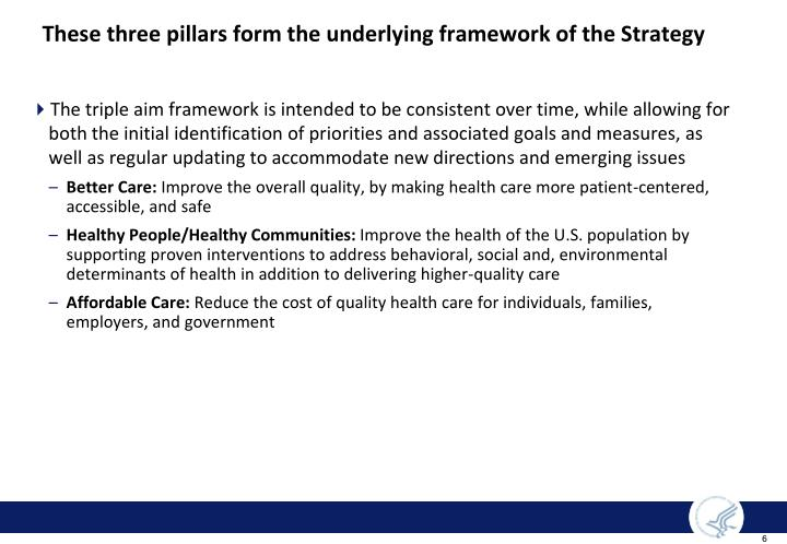 These three pillars form the underlying framework of the Strategy