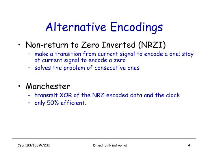 Alternative Encodings