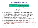 carrier extension