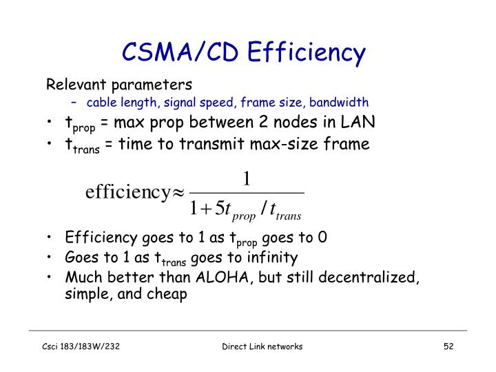 CSMA/CD Efficiency