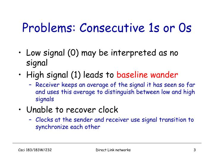 Problems consecutive 1s or 0s
