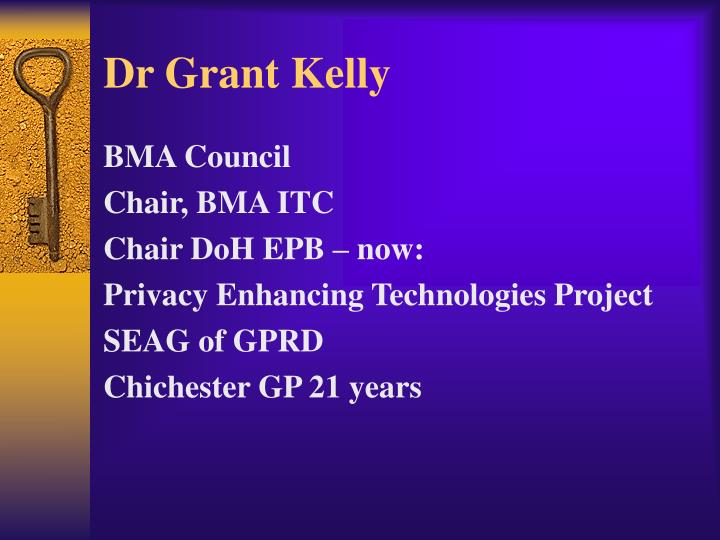 Dr grant kelly
