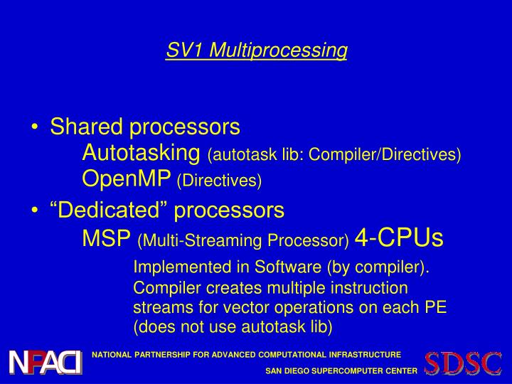 SV1 Multiprocessing