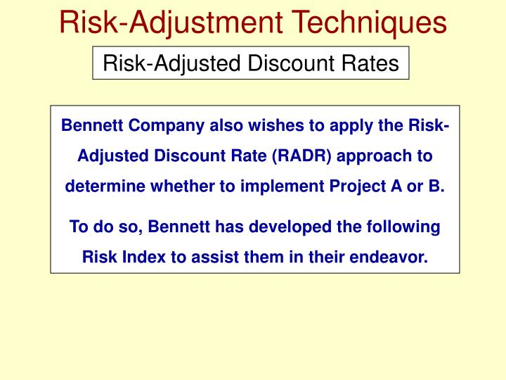 Risk-Adjustment Techniques