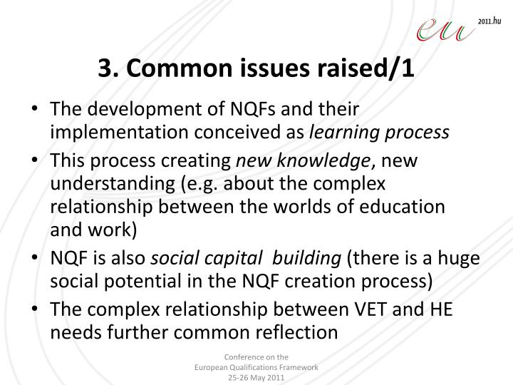 3. Common issues raised/1