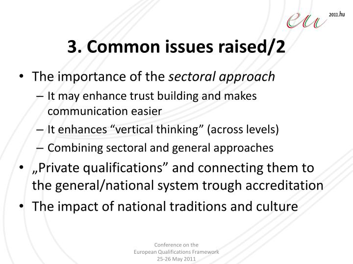 3. Common issues raised/2