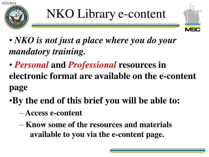 NKO Library