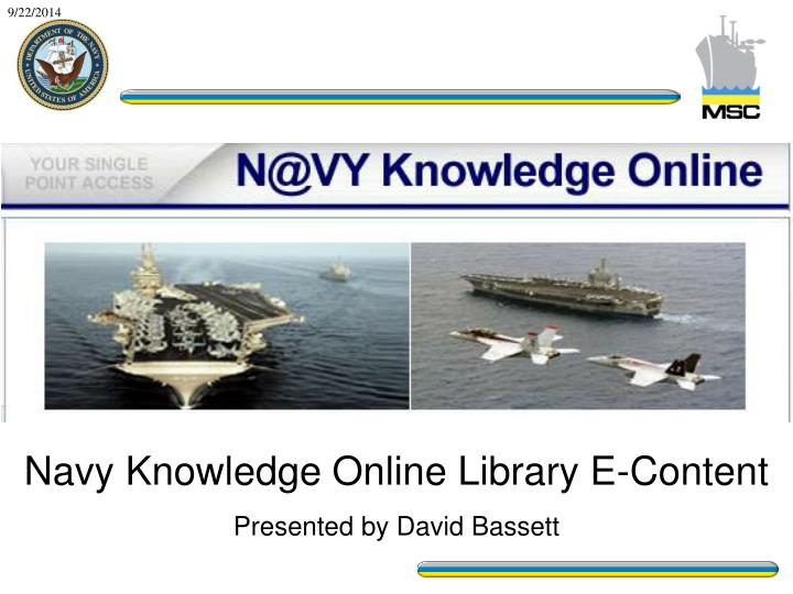 Navy Knowledge Online Library E-Content