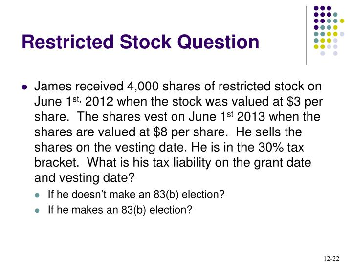 Restricted Stock Question
