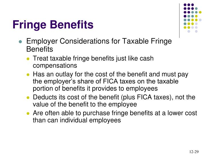Employer Considerations for Taxable Fringe Benefits