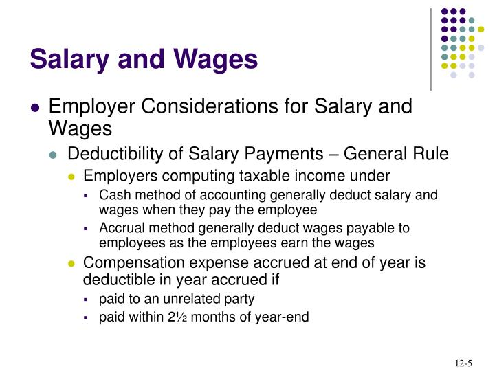 Employer Considerations for Salary and Wages